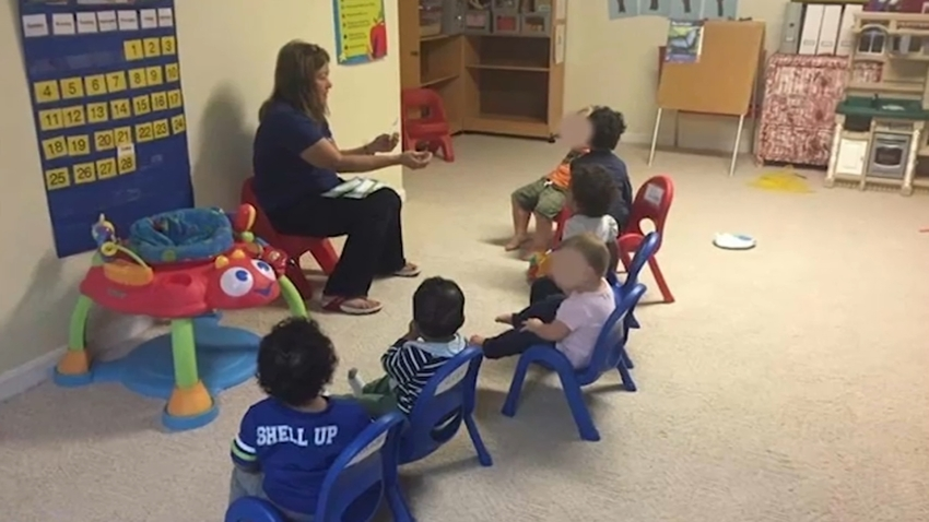 Ruby Daniels looking after children at Daniels Family Child Care.