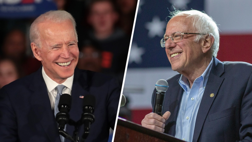 Joe Biden and Bernie Sanders