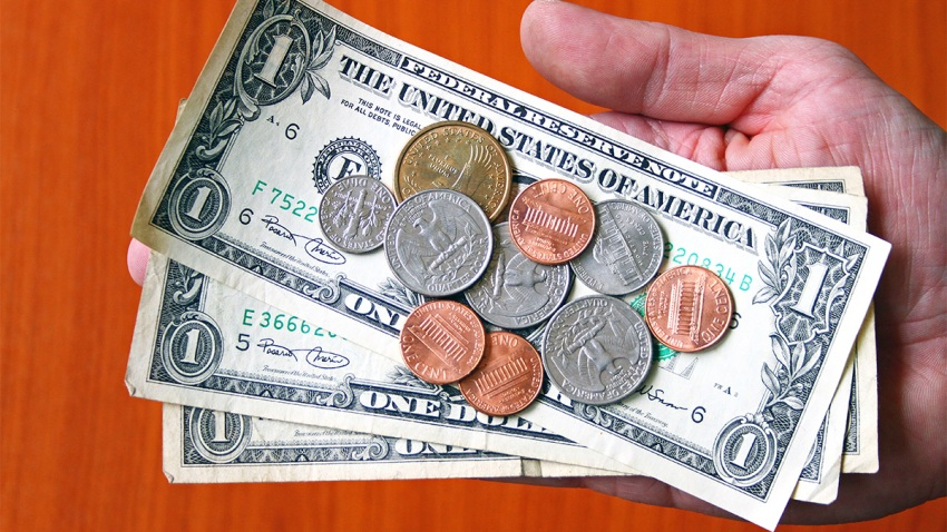 USA Dollar Bank Notes and Coins