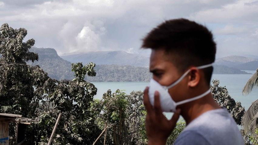 Foto del volcan Taal