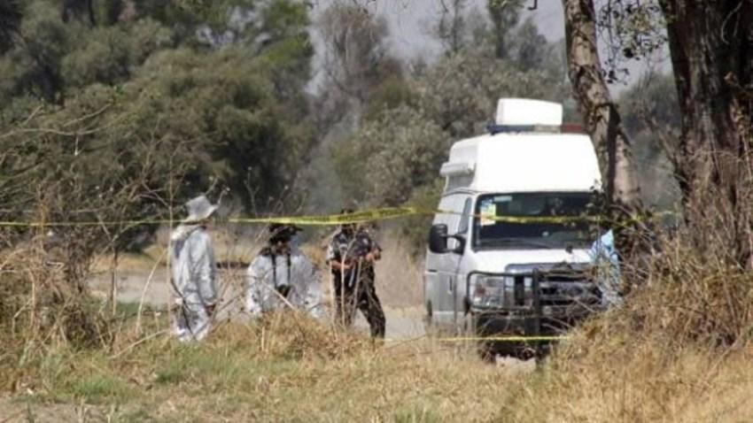 Servicios forenses en la escena del crimen
