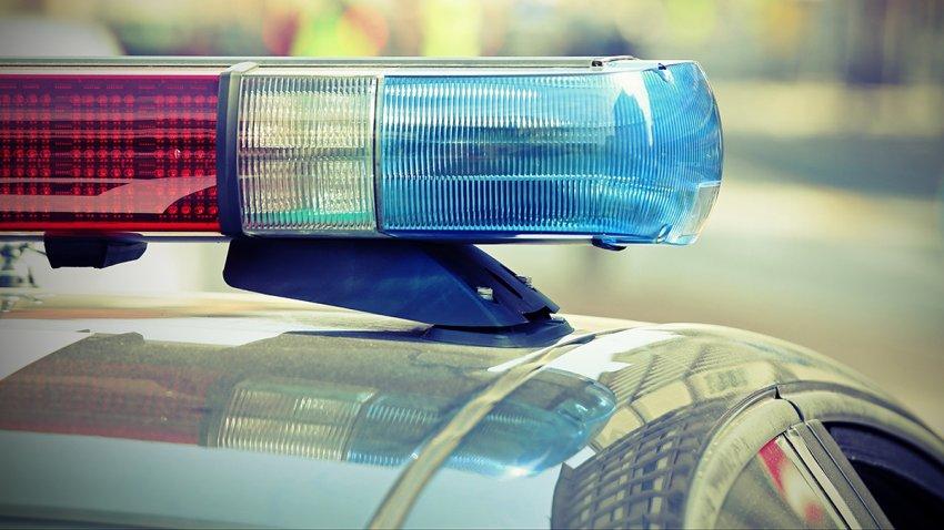 Sirena de patrulla de policía.