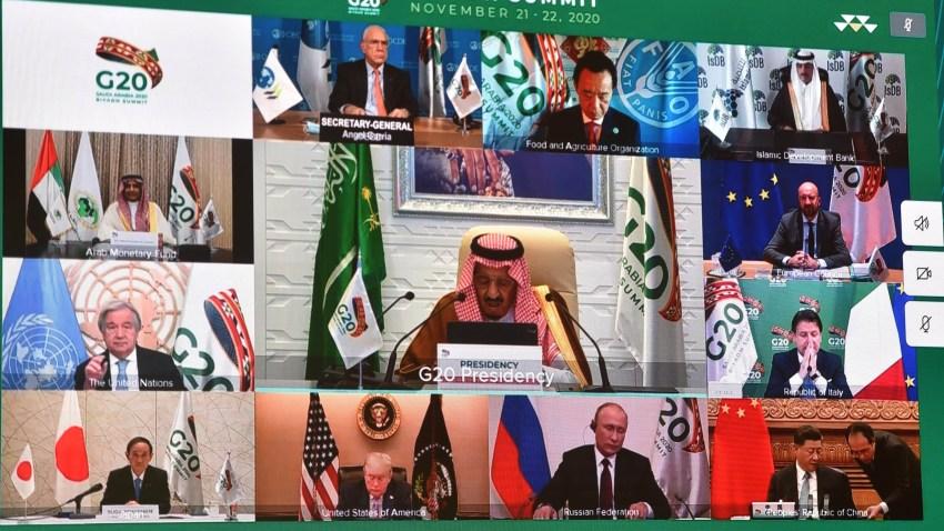 Una de las imágenes oficiales de un encuentro de la Cumbre del G20.