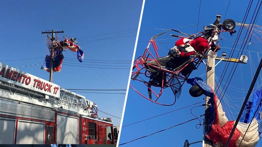 Rescatan a 'Santa Claus' tras quedar atrapado en unas líneas eléctricas –  Telemundo Sacramento