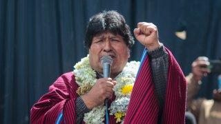 Evo Morales, expresidente de Bolivia, en un evento en diciembre de 2020.